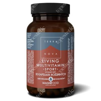 Terranova Living Multivitamin Sport Zawiera 12 witamin, 9 składników mineralnych oraz 6 różnych roślin 50 kaps. roślinnych