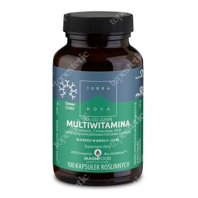 Terranova Multiwitamina Na Co Dzień dla dzieci w wieku 4-12 lat 12 witamin, 7 minerałów, DHA 100 kaps. roślinnych