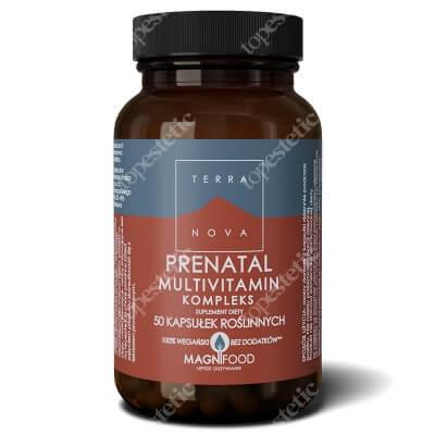 Terranova Prenatal Multivitamin Kompleks Witaminy i minerały prenatalne dla kobiet będących w ciąży, planujących ciążę oraz karmiących 50 kaps. roślinnych