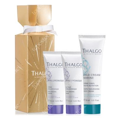 Thalgo Anti-Ageing Crackers 2019 ZESTAW Krem z kwasem hialuronowym 15 ml + Maska z kwasem hialuronowym 15 ml + Ultra-odżywczy krem do ciała 30 ml