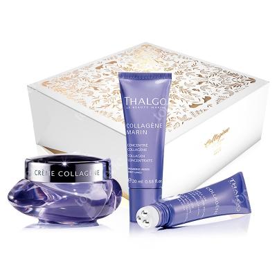 Thalgo Collagen Anti-Aging Gift Box 2018 ZESTAW Krem kolagenowy 50 ml + Serum kolagenowe 20 ml + Żel z kolagenem do pielęgnacji okolic oczu 15 ml