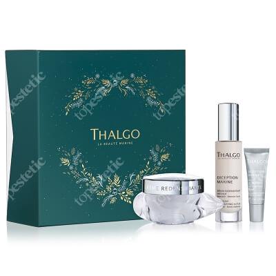 Thalgo Exception Marine Gift Set 2021 ZESTAW Krem przywracający gęstość skórze 50 ml + Intensywne serum 30 ml + Liftingujący krem do powiek 10 ml
