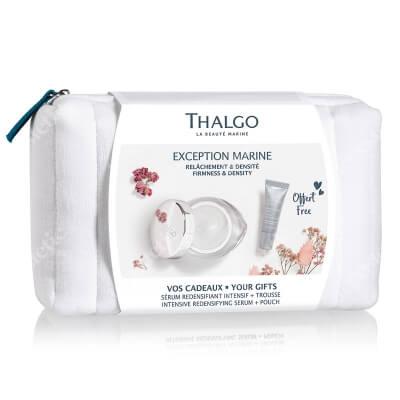 Thalgo Exception Marine ZESTAW Krem przywracający gęstość skórze 50 ml + Intensywne serum przywracające gęstość skórze 10 ml + Kosmetyczka