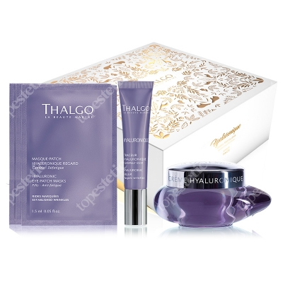 Thalgo Hyaluronic Anti-Aging Gift Box 2018 ZESTAW Krem z kwasem hialuronowym 50 ml + Wypełniacz zmarszczek 15 ml + Płatki na okolice oczu 3 x 1,5 ml
