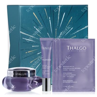 Thalgo Hyaluronic Gift Box 2019 ZESTAW Krem z kwasem hialuronowym 50 ml + Wypełniacz zmarszczek 15 ml + Płatki na okolice oczu 3 x 1,5 ml