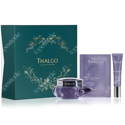 Thalgo Hyaluronic Gift Set 2020 ZESTAW Krem z kwasem hialuronowym 50 ml + Wypełniacz zmarszczek 15 ml + Płatki na okolice oczu 3 x 1,5 ml