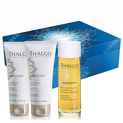 Thalgo Indoceane Set ZESTAW Olejek do masażu 100 ml + Mleczko 100 ml + Żel 100 ml