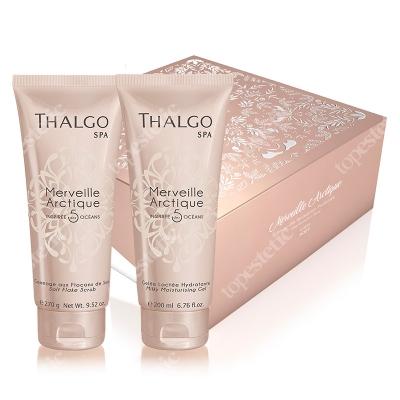 Thalgo Merveille Arctique Gift Box 2018 ZESTAW Nawilżający mleczny żel do ciała 200 ml + Wygładzający solny peeling do ciała 270 g