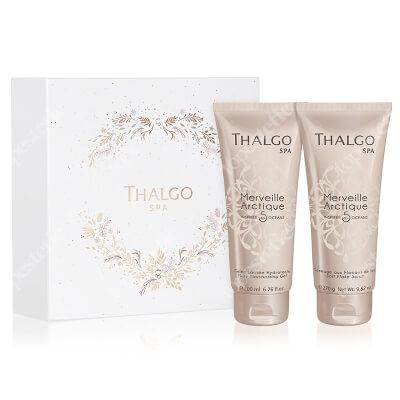 Thalgo Merveille Arctique Gift Box 2019 ZESTAW Nawilżający mleczny żel do ciała 200 ml + Wygładzający solny peeling do ciała 270 g