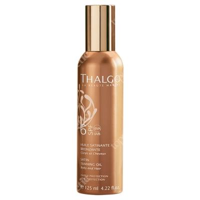 Thalgo Satin Tanning Oil SPF 6 Olejek do opalania - do ciała i włosów 125 ml