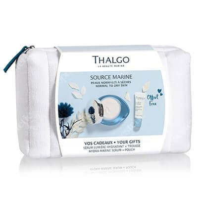 Thalgo Source Marine ZESTAW Krem nawilżający 24 h 50 ml + Serum nawilżające 10 ml + Kosmetyczka