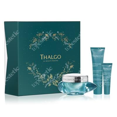 Thalgo Spiruline Boost - Smooth Energise Gift Set 2020 ZESTAW Energetyzujący żel - krem 50 ml + Serum energetyzująco - dotleniające 30 ml + Żel pod oczy 10 ml