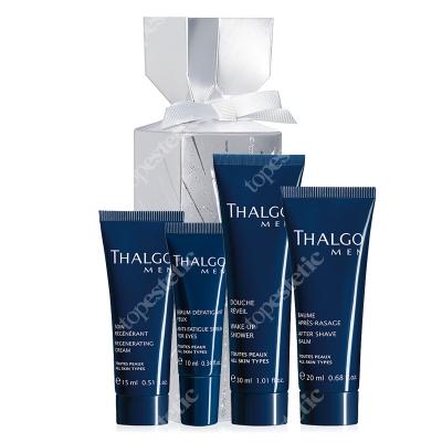 Thalgo Thalgo Men Crackers 2019 ZESTAW Krem regenerujący 15 ml + Serum na okolice oczu 10 ml + Balsam po goleniu 20 ml + Żel pod prysznic 30 ml