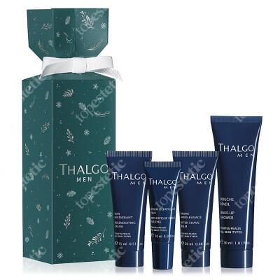 Thalgo Thalgo Men Crackers 2020 ZESTAW Krem regenerujący 15 ml + Serum na okolice oczu 10 ml + Balsam po goleniu 20 ml + Żel pod prysznic 30 ml