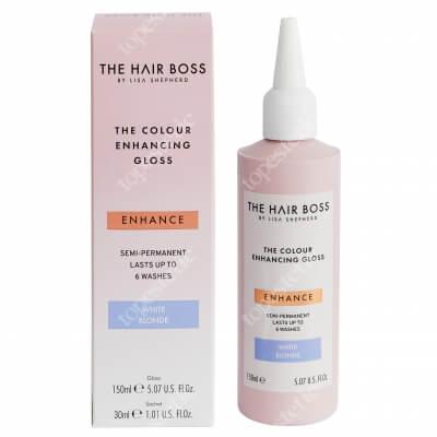 The Hair Boss Colour Enhancing Gloss White Blonde Rozświetlacz podkreślający chłodny odcień blondu 150 ml