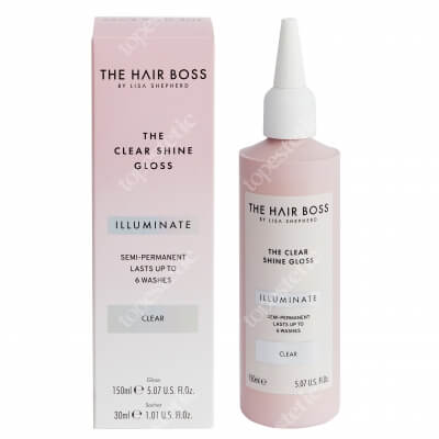 The Hair Boss The Clear Shine Gloss Uniwersalny rozświetlacz koloru 150 ml