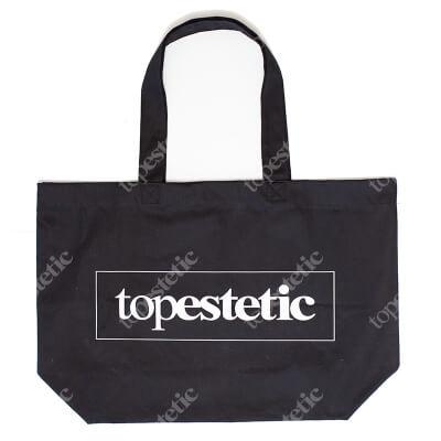 Topestetic (R) Plażowa torba topestetic Materiałowa Duża (kolor czarny)