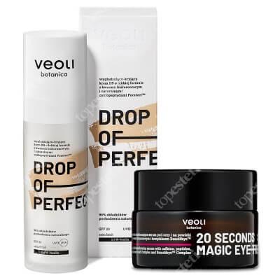 Veoli Botanica 20 Seconds Magic Eye Treatment + Drop of Perfection Vanilla ZESTAW Serum pod oczy i na powieki 15 ml + Wygładzająco-kryjący krem BB o lekkiej formule z kwasem hialuronowym (kolor vanilla 2)30 ml