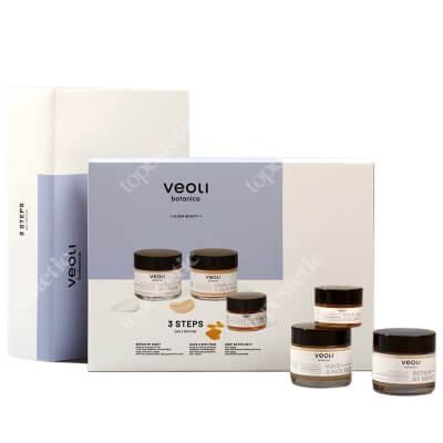 Veoli Botanica 3 Steps Daily Routine ZESTAW Krem do twarzy na dzień 60 ml + Skoncentrowany balsam pod oczy 15 ml + Krem do twarzy na noc 60 ml