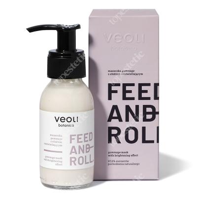 Veoli Botanica Feed And Roll Maseczka gommage z efektem rozświetlającym