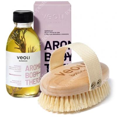 Veoli Botanica Rejuvenating Body Set ZESTAW Szczotka z agawy do masażu ciała 1 szt + Ujędrniające serum olejowe do ciała 136 g