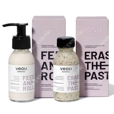 Veoli Botanica Ritual Box - Make It Glow ZESTAW Wygładzający peeling do twarzy 90 ml + Maseczka gommage 90 ml
