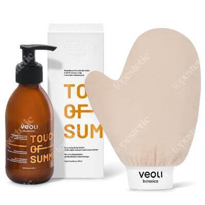Veoli Botanica Touch Of Summer + I gLove Tan ZESTAW Brązujący balsam do ciała z ekstraktem z alg i masłem kakaowym 195 ml + Rękawica do aplikacji produktów brązujących 1 szt