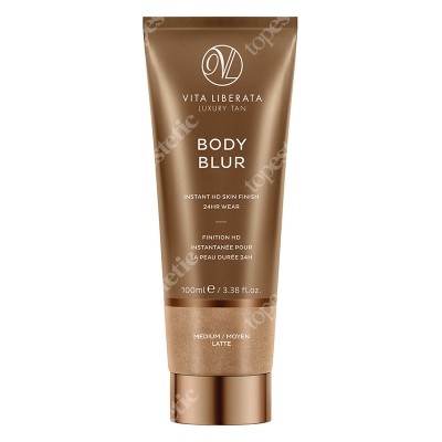 Vita Liberata Body Blur Instant HD Skin Finish Zmywalny make-up do ciała Medium / Moyen Latte 100 ml