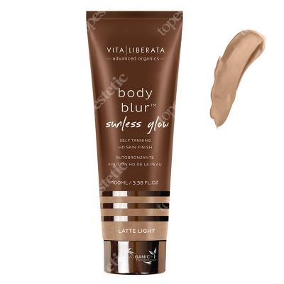Vita Liberata Body Blur Sunless Glow HD Skin Finish Emulsja samoopalająca z bronzerem - kolor Latte Light 100 ml