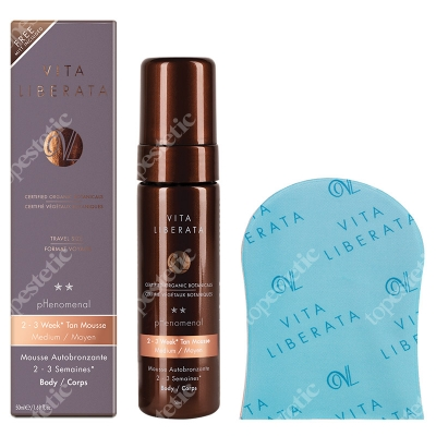 Vita Liberata Phenomenal Medium Mousse 50 ml & Mini Mitt ZESTAW Pianka kolor medium 50 ml + mini rękawiczka