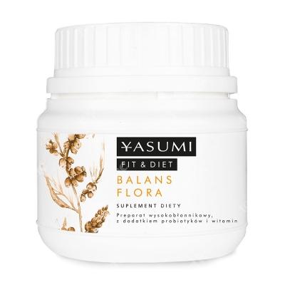 Yasumi Balans Flora Preparat wysokobłonnikowy, z dodatkiem pre- i probiotyków 158 g