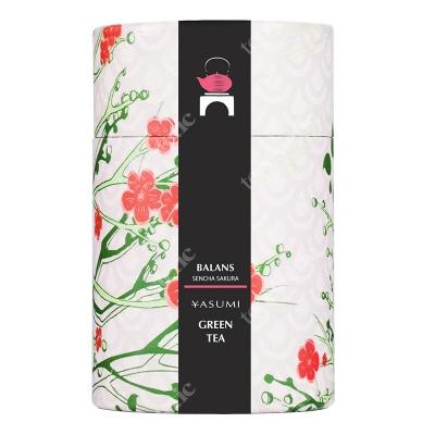 Yasumi Balans herbata zielona liściasta, wiśnie plastry, płatki róży 50 g