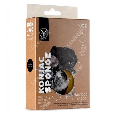 Yasumi Bambo Charcoal Konjac Sponge For Men S Gąbka do mycia twarzy z aktywnym węglem dla mężczyzn S