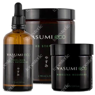 Yasumi Eco Box ZESTAW Krem od stóp do głów 180 ml + Maseczka wegańska 60 ml + Ekoeliksir 100% naturalny 100 ml