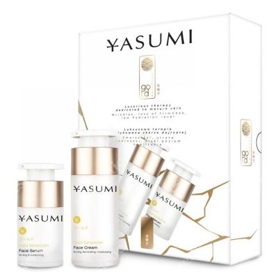 Yasumi Gold Sensation Box ZESTAW Ekskluzywny krem 30 ml + Serum z drobinkami złota 15 ml