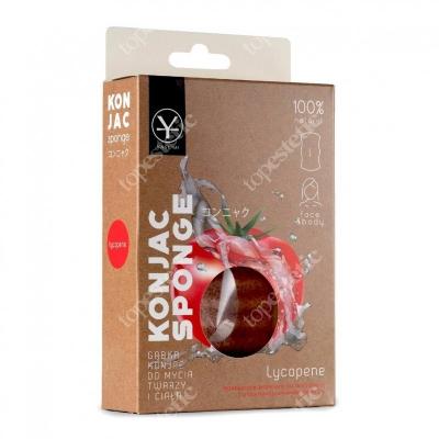 Yasumi Lycopene Konjac Sponge L Naturalna gąbka z likopenem do oczyszczania skóry suchej