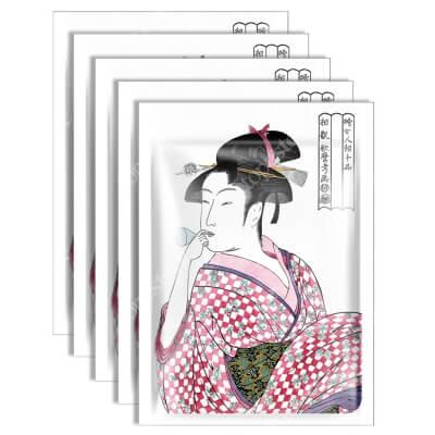 Yasumi Mitomo Collagen + Lithospermum Essence Mask Japońska maska do twarzy w płachcie z kolagenem i ekstraktem z korzenia nawrotu lekarskiego 5 szt