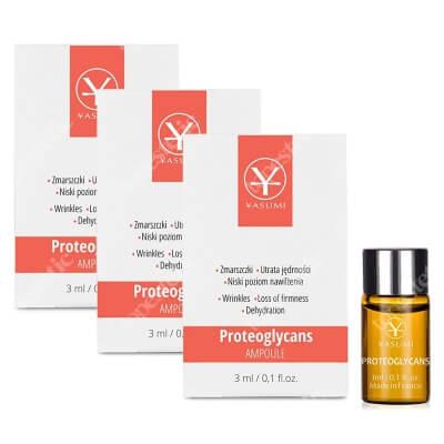 Yasumi Proteoglycans Set ZESTAW Ampułka do skóry z oznakami starzenia, niskim poziomem nawilżenia i utratą jędrności 3 ml x 3 szt