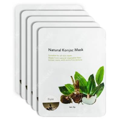Yasumi Pure Face Mask Maska Konjac to w 100% naturalna maska roślinna 5 szt
