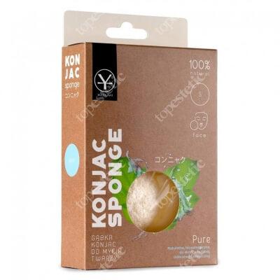 Yasumi Pure Konjac Sponge S Naturalna gąbka do oczyszczania każdego rodzaju skóry 1 szt