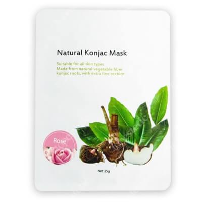 Yasumi Rose Face Mask Maska Konjac to w 100% naturalna maska roślinna 1 szt