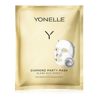 Yonelle Diamond Party Mask Diamentowa maska bankietowa 3 szt.