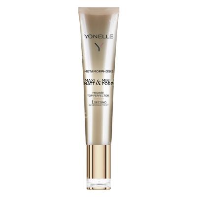 Yonelle Metamorphosis Mousse Top Perfector Mus perfektor błyskawicznie matujący skórę i maskujący pory 25 ml