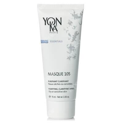 Yonka Masque 105 Maska oczyszczająco-detoksykująca do skóry suchej i wrażliwej 75 ml