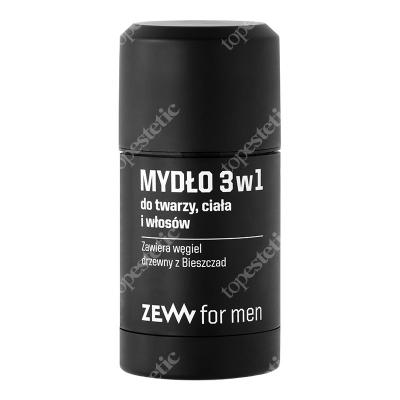 Zew For Men Mydło 3 w 1 Do Twarzy Ciała i Brody Zawiera węgiel drzewny z Bieszczad 85 ml