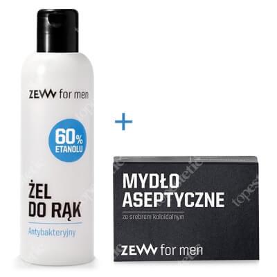 Zew For Men Zestaw Zew Czystych Rąk ZESTAW Żel antybakteryjny 100 ml + Mydło aseptyczne 85 ml