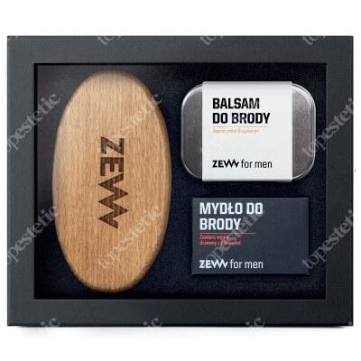 Zew For Men Zimowy Zadbany Brodacz ZESTAW Zimowy balsam do brody 80 ml + Mydło do brody 85 ml + szczotka 1 szt