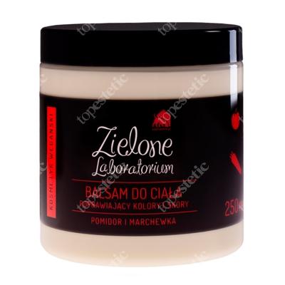 Zielone Laboratorium Balsam Do Ciała Poprawiający Koloryt Skóry Pomidor i Marchewka 250 ml