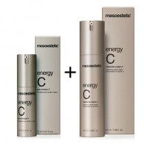 Mesoestetic Energy C ZESTAW Intensywnie rozświetlający krem pod oczy 15 ml + Krem do twarzy tester 50 ml