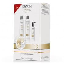 Nioxin System 3 ZESTAW XXL pielęgnacyjny przeciw wypadaniu (włosy cienkie, przerzedzone, zniszczone) 300, 300, 100 ml